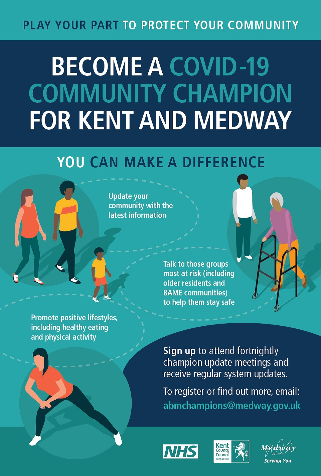 Become a COVID-19 Community Champion for Kent and Medway