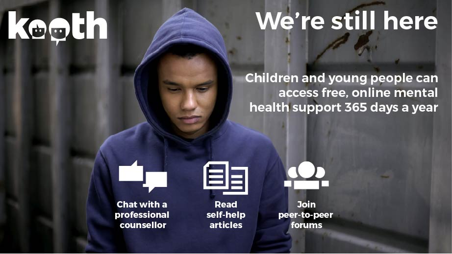 Free, safe and anonymous online support for young people in Kent